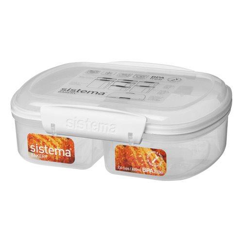 Image of Sistema Opbevaringsboks hvid split bakery 630 ml