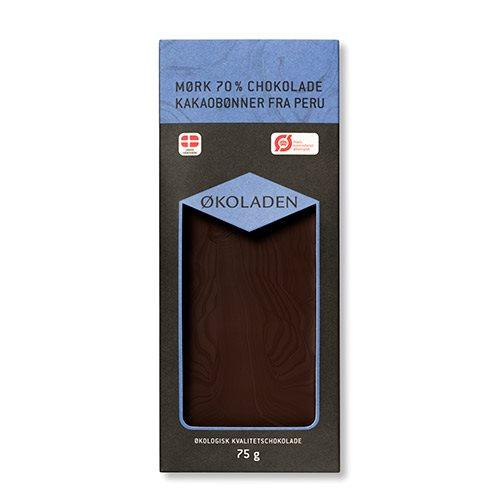 Billede af Økoladen Chokolade mørk 70% Ø (75 g)