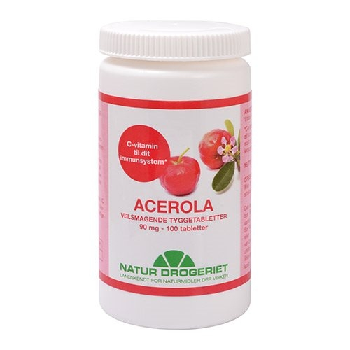 Image of   Acerola Natural 90 mg - 100 tabletter