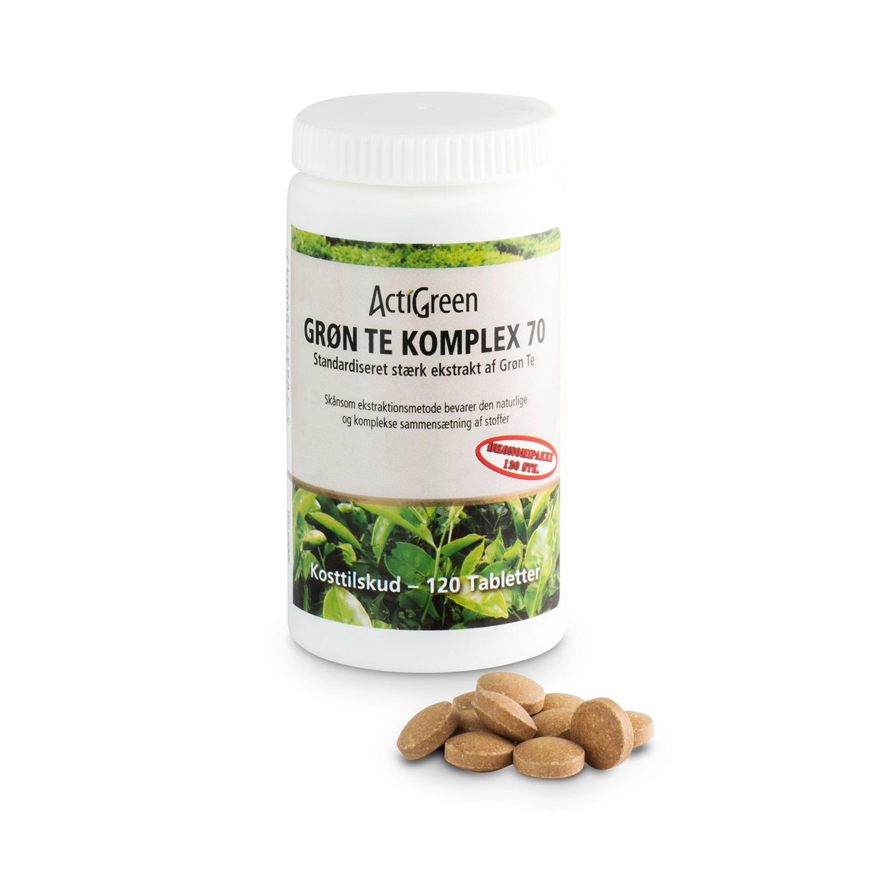 Grøn Te Komplex 70 - 120 tabletter - Økonomikøb