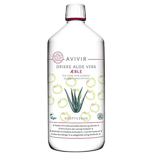 Image of   Avivir aloe-vera drik med æble - 1 liter