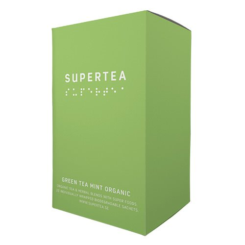 Image of Green tea mint økologisk te Supertea - 20 brev