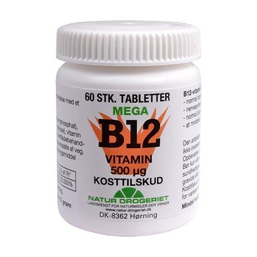 Image of B12 Mega 500 mcg - 60 tabletter