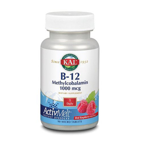 Image of   B12 Methylcobalamin 1000 mcg KAL - 90 tabletter