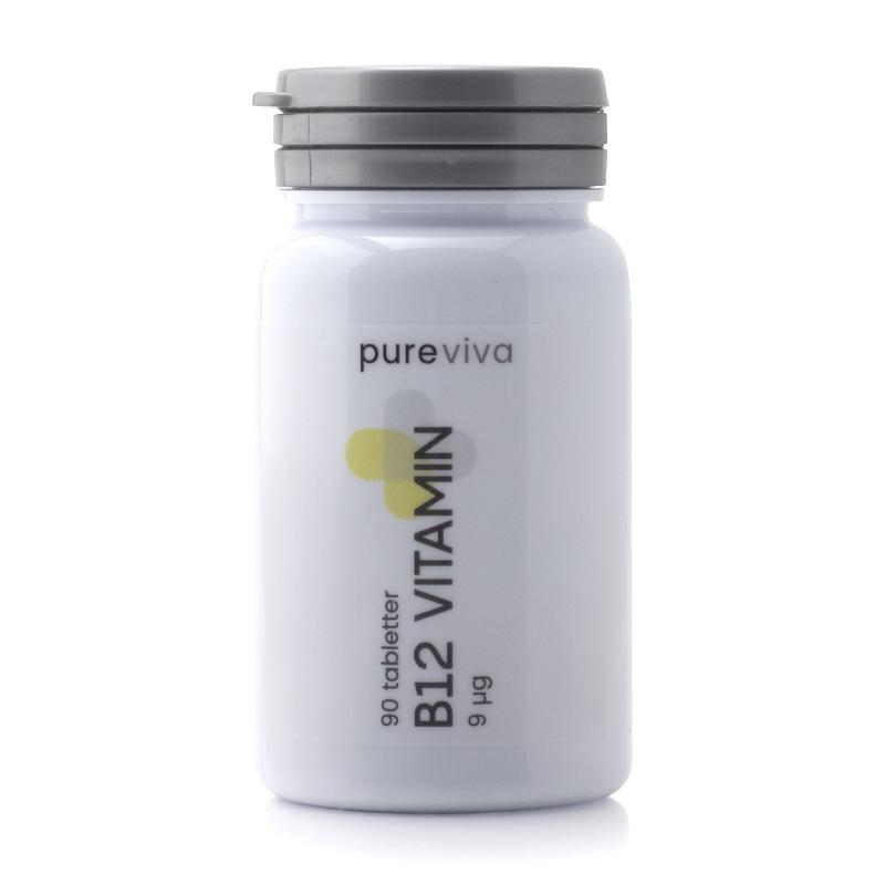 Image of   Pureviva B12 Vitamin 9µg (90 tab)