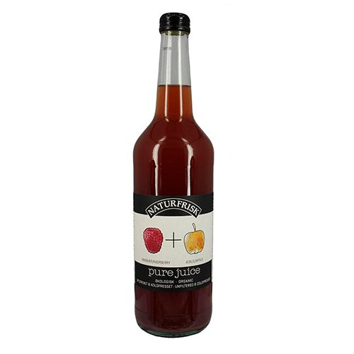Pure juice hindbær/æble Ø
