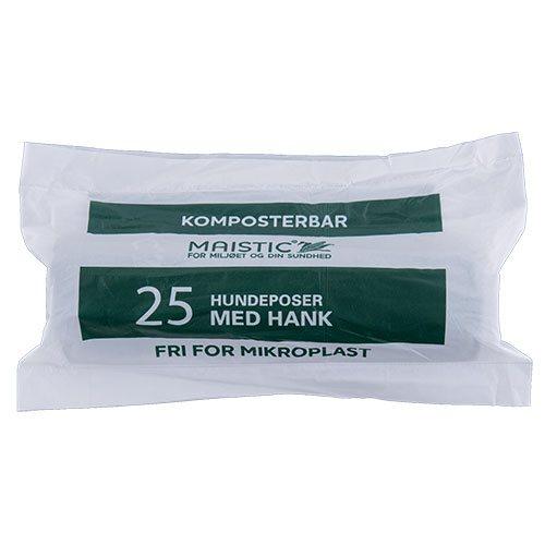 Maistic Komposterbare hundeposer med hank - 25 stk