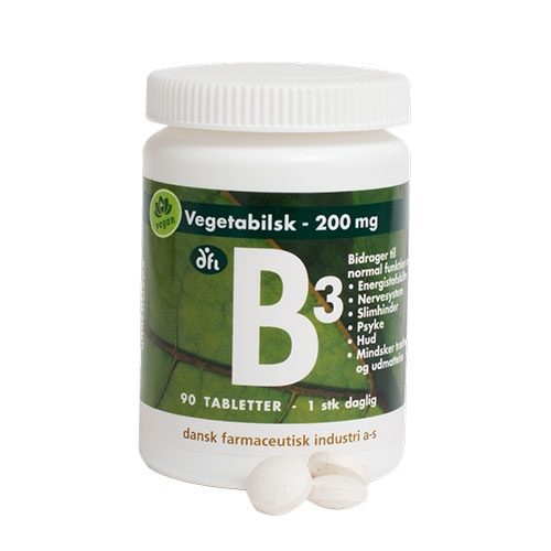 Image of   B3 depot tablet 200 mg - 90 Tabletter