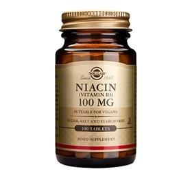 Image of   B3 Vitamin Niacin Solgar 100 mg - 100 tabletter