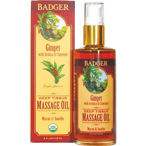 Badger Ginger Massage Oil (118 ml)