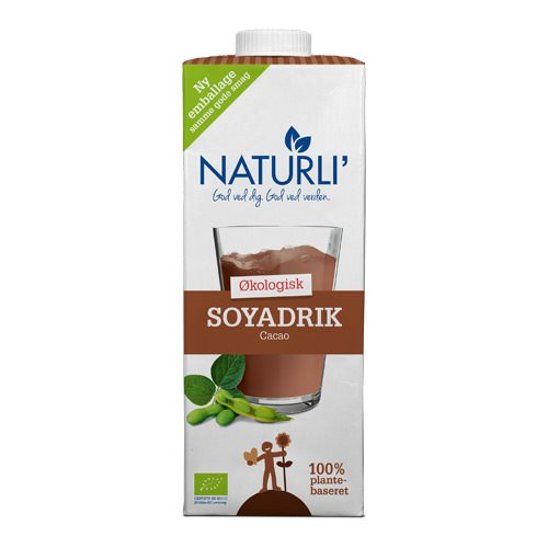 Image of   Sojadrik kakao Naturli Økologisk - 1 liter