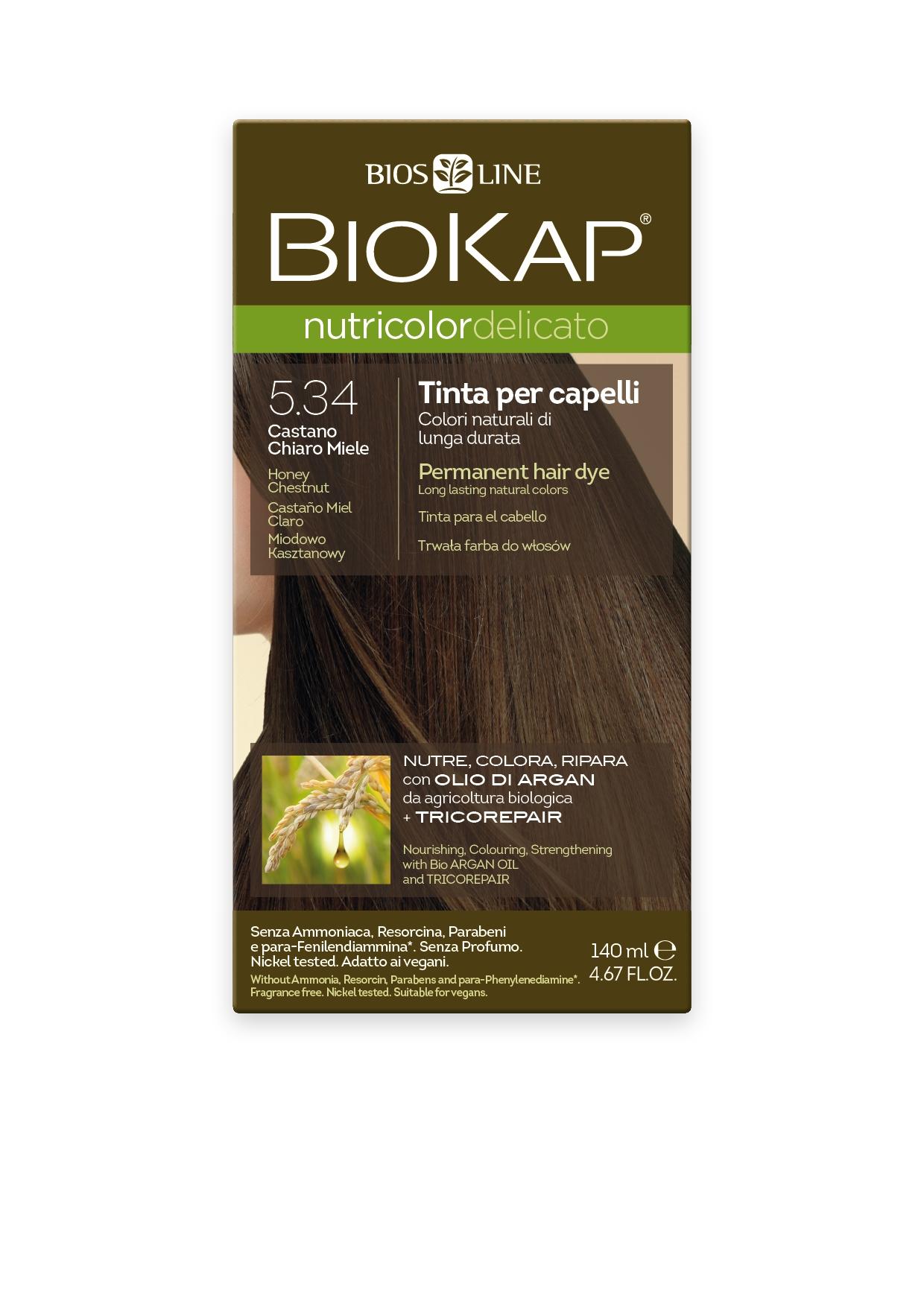 BioKap 5.34 Nutricolor Honey Chestnut DELICATO