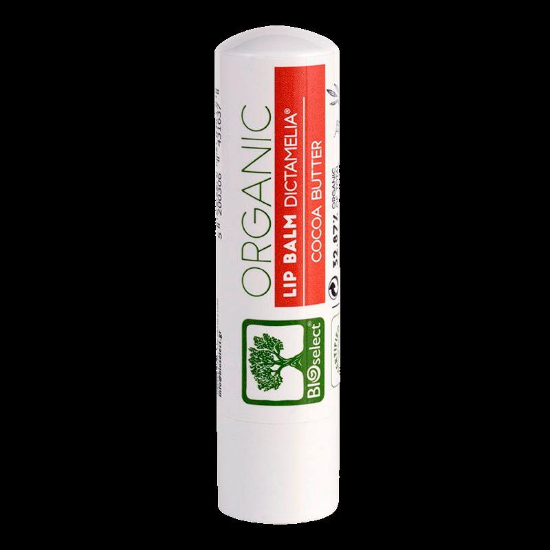 Læbepomade Cocoa Butter fra Bioselect - 4 gram