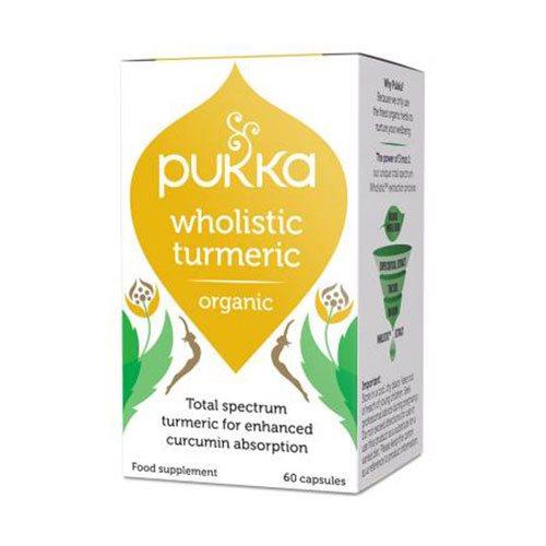 Image of   Turmeric gurkemeje kapsler Pukka Øko - 60 stk.