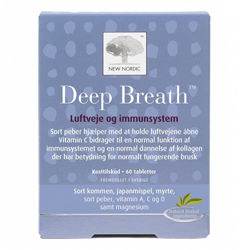 Deep Breath tabletter fra New Nordic - 60 stk.