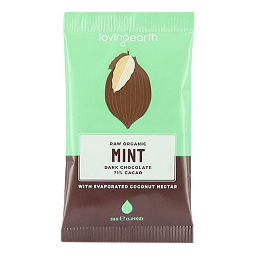 Image of Chokolade Mint 71% kakao Ø Loving Earth - 30 gram
