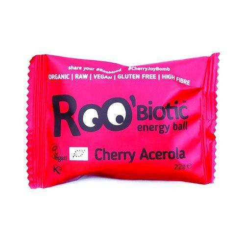 Roobiotic Energy Ball Kirsebær & Acerola Ø - 22 gr