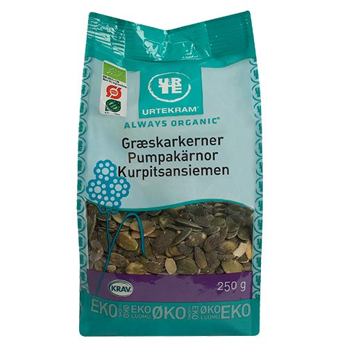 Græskarkerner Økologiske fra Urtekram - 200 gram