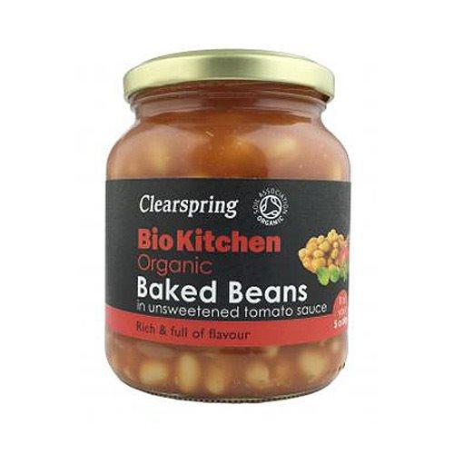 Image of   Baked beans uden tilsat sukker Clearspring - 350 g