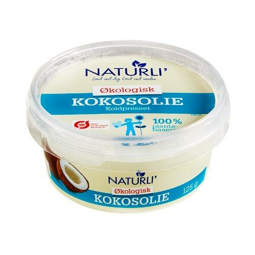 Kokosolie koldpresset Naturli øko - 125 gram
