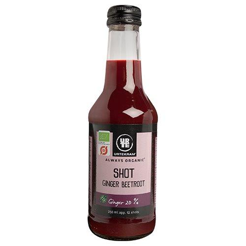 Ingefærshot med rødbede fra Urtekram Øko - 250 ml.