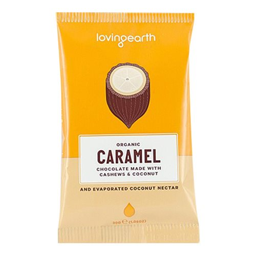 Chokolade Caramel cashew-kokos Loving Earth Ø 30 g
