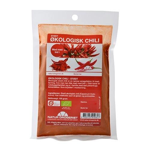Image of   Chili stødt fra Natur Drogeriet Økologisk - 100 gr