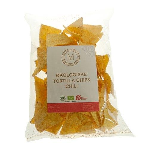 Tortillachips med chili Økologiske - 125 gram