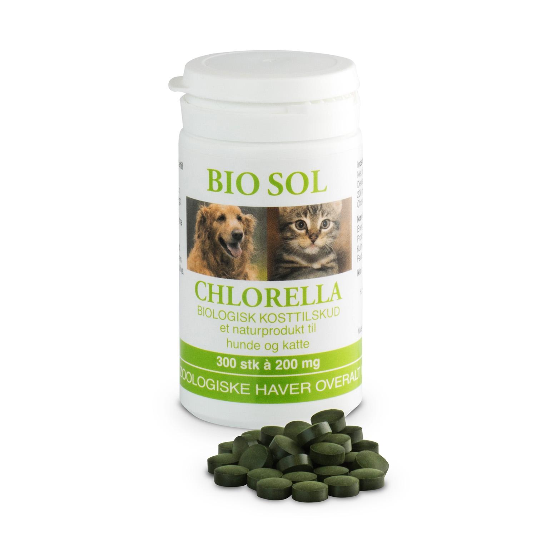Image of Bio Sol Chlorella til veterinært brug - 300 tabl.