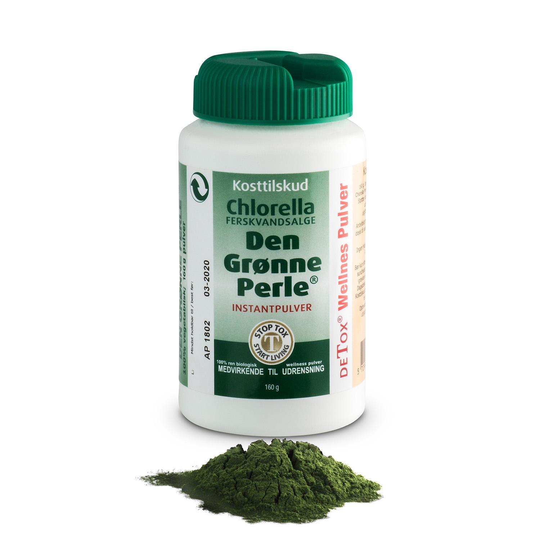 Chlorella den grønne perle Instant pulver - 160 gr