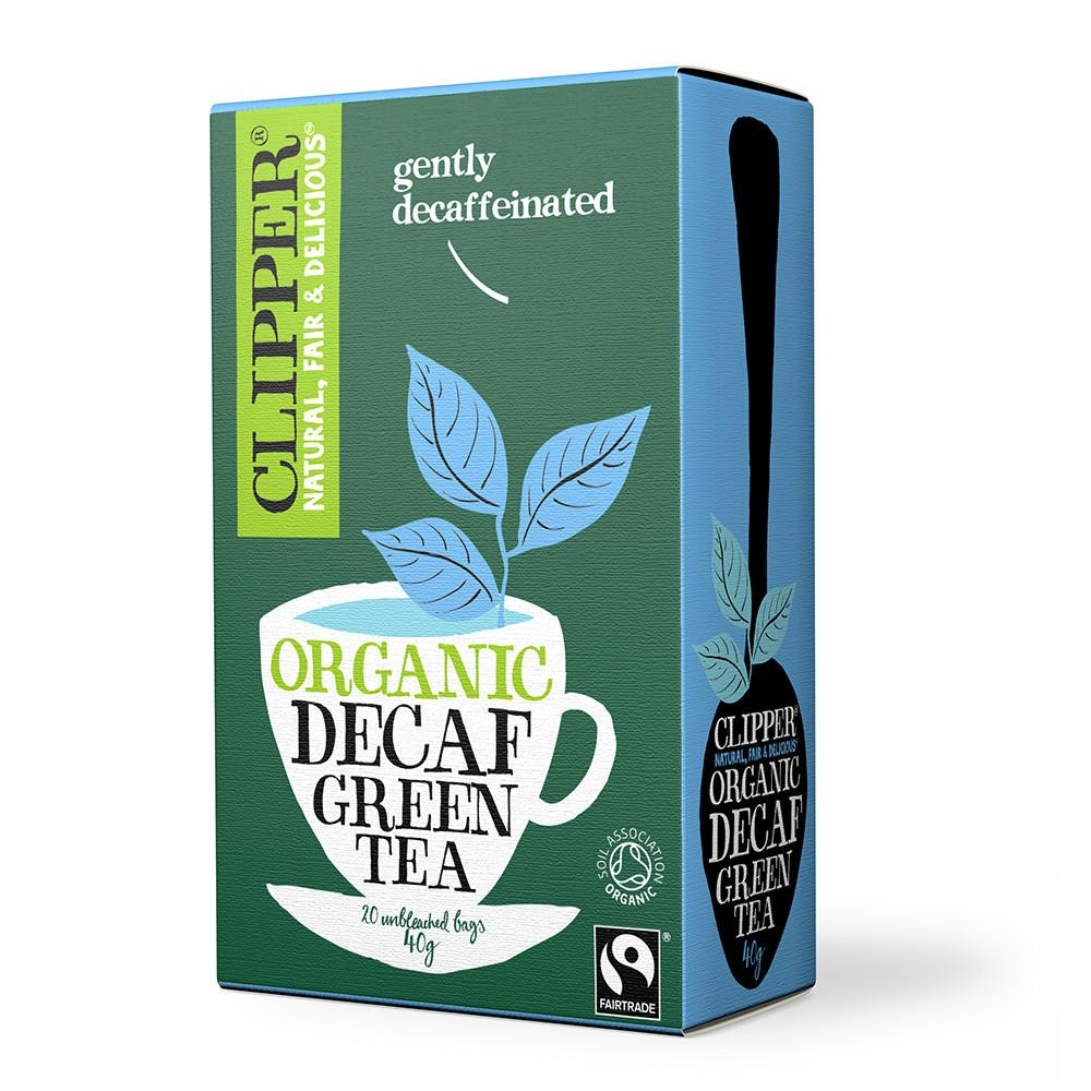 Grøn te koffeinfri fra Clipper - 20 breve