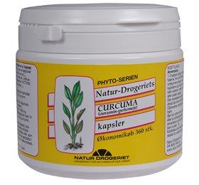 Curcuma med gurkemeje 495 mg - 360 kapsler