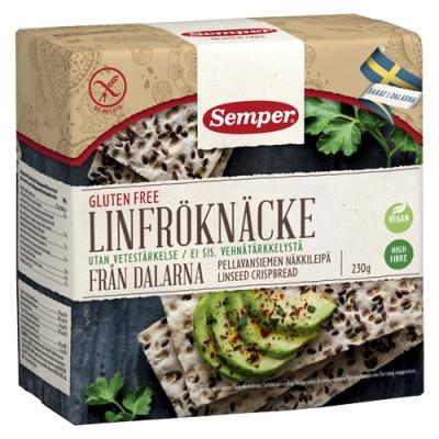 Semper Knækbrød Hørfrø Glutenfri (230 gr)