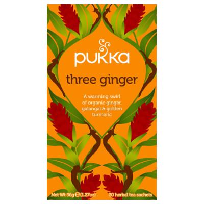 Pukka Three Ginger Te Ø (20 breve)