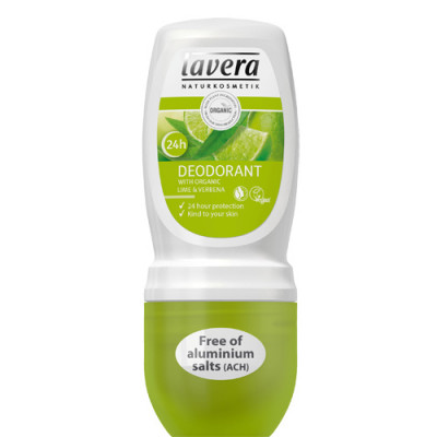 Lavera Lime Sensation Mild Deodorant Roll-on Jernurt og Lime (50 ml)