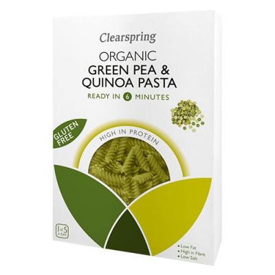 Clearspring Grønne ærter & quinoa fusilli Ø (250 g)