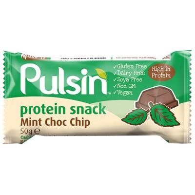 Pulsin Proteinbar Mint Choc Chip - 50 gr