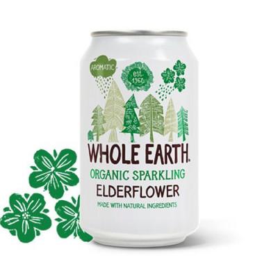 Sodavand Whole Earth Hyldeblomst økologisk 330 ml.