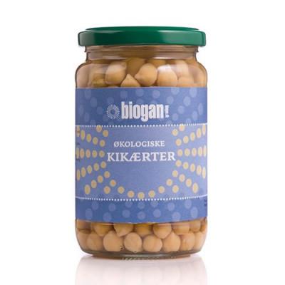 Kikærter i glas fra Biogan Økologiske - 330 gram