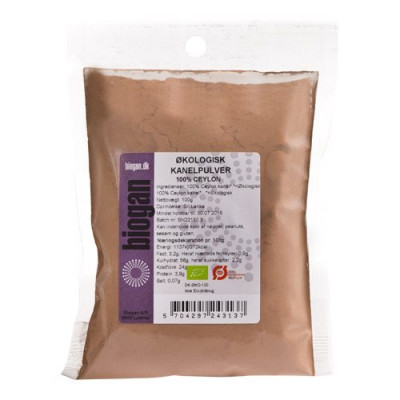 Kanelpulver 100% Ceylon fra Biogan Øko -100 gr