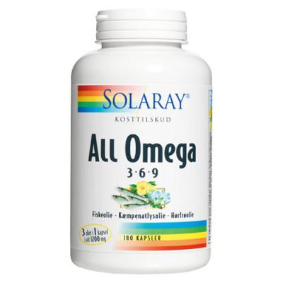Solaray All Omega 3-6-9 (180 kapsler)