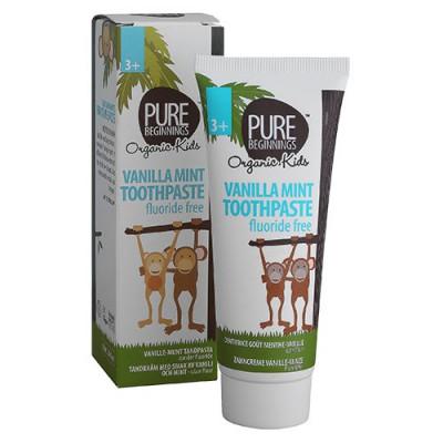 Plan Organic Tandpasta med Smag af Vanilje og Mint