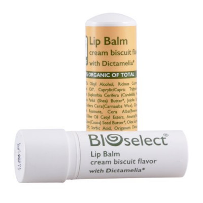 Læbepomade biscuit fra Bioselect - 4 gram