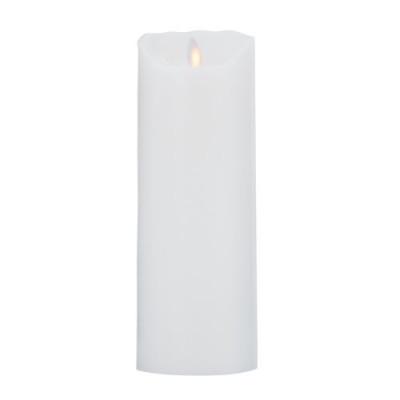 LeveLys LED Stearinlys Ø8x23cm Hvid glat