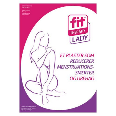 Fit-plaster Menstrutionskit ladyfit smertelindrende(3 stk)