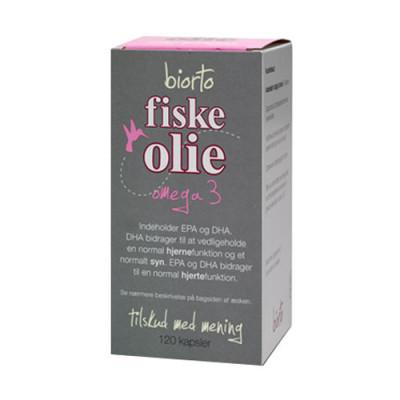 Biorto Fiskeolie Omega 3 (120 kapsler)