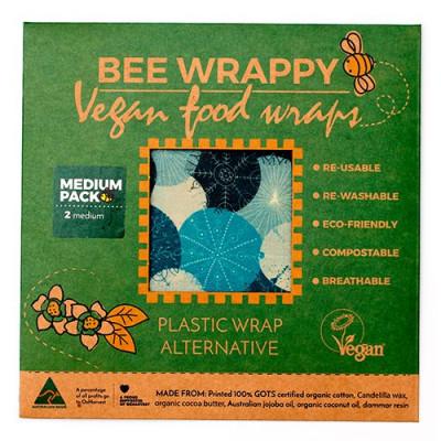 Bee Wrappy Vegan Food Wraps - 2 x medium
