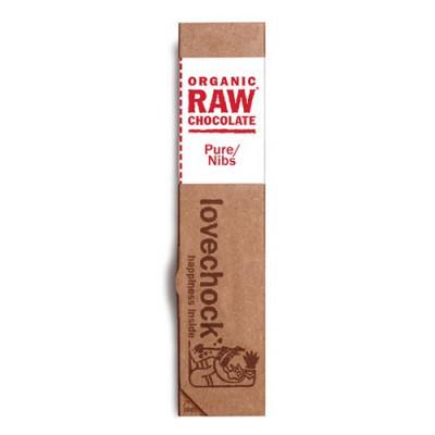 Lovechock RAW chokolade kakaonibs Øko - 40 gram