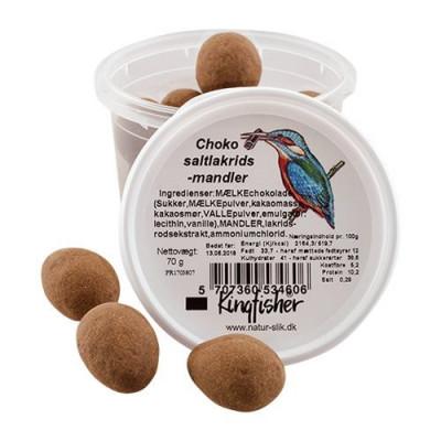 Choko saltlakrids mandler 70 gr.
