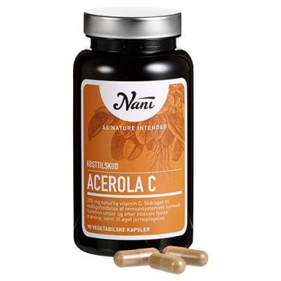 Nani Food State Acerola C-vitamin (90 kapsler)